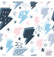 hand drawn doodle thunder backdrop in vector image vector image