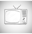 hand drawn retro TV vector image vector image