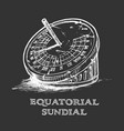 hand drawn sundial vector image vector image