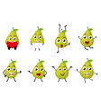 happy pear cartoon character vector image vector image