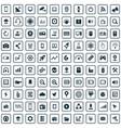 hi-tech 100 icons universal set for web and ui vector image