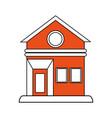 house facade flat vector image vector image