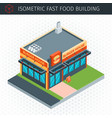 isometric fast food building vector image vector image