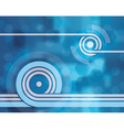 looping blue tech abstract background wallpaper vector image vector image