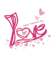 Love design for valentines day vector image vector image