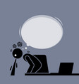 man vomits and pukes after watching the internet vector image