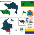 Map of Amazonas vector image vector image