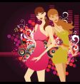 music girls vector image vector image