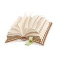 old open book spread vector image vector image