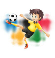 Olympics theme with soccer player vector image vector image
