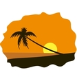 Palm tree on seaside vector image