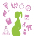 Pregnant woman concept vector image vector image