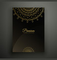 premium mandala flyer decoration template vector image vector image