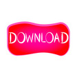 red download button vector image vector image