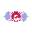 red speaker and sound waves isolated vector image vector image