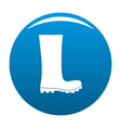 rubber boots icon blue vector image vector image