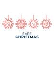 safe christmas coronavirus ball banner christmas vector image vector image