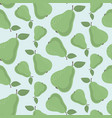 seamless pattern with green pears vector image vector image