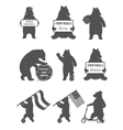 Set Bears vector image vector image