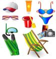 set from beach vector image vector image