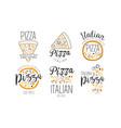 set logos for pizzeria vector image vector image