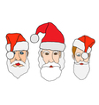 Set of santa claus vector image vector image