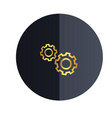 setting icon black circle background image vector image