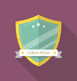 Shield flat style badge icon vector image vector image