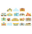 shopping mall department store and supermarket vector image vector image