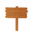 simple empty wooden billboard made of rough planks vector image