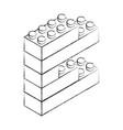 sketch draw toy building block bricks vector image