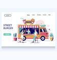 street burger website landing page design vector image vector image