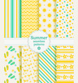 summer seamless patterns collection vector image vector image