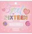 Sweet Sixteen vector image vector image
