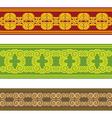 swirl ethnic border vector image