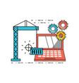 technology teamwork to development process vector image