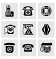 Telephone icon set vector image vector image
