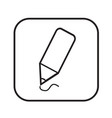 thin line pencil icon design vector image vector image