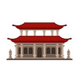 traditional chinese japanese building pagoda vector image vector image