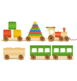 Wooden color toys vector image vector image