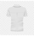 back of white polo shirt mockup realistic style vector image