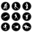 simple sport icons vector image
