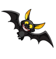 cartoon smiling bat vector image