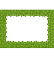 Four Leaf Clover Frame with Copy Space vector image
