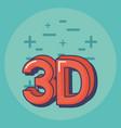 3d symbol design vector image vector image