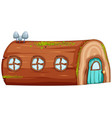 a log house on white background vector image vector image