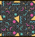 abstract geometric memphis pattern vector image