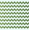 basil green zigzag pattern with glittery effect vector image