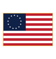 betsy ross flag isolated vector image vector image