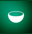 bowl icon isolated on green background vector image